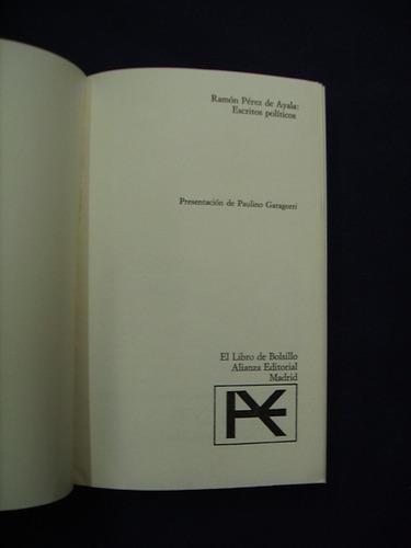 escritos políticos - ramon perez de ayala