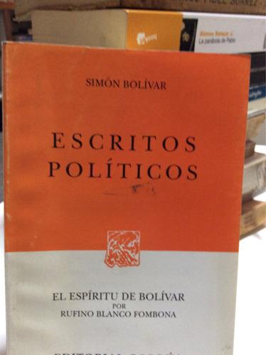 escritos políticos simón bolívar el espíritu de bolívar rufi
