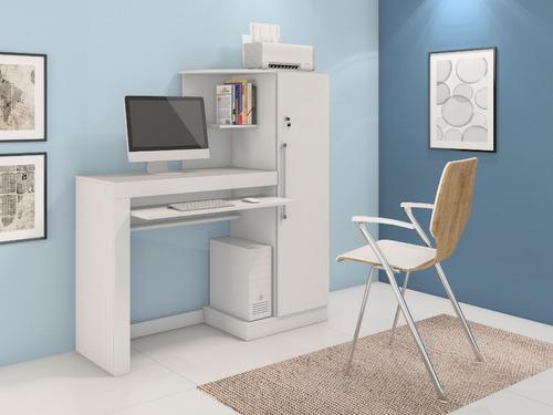 escrivaninha armário estante 1 porta com chave aroeira jcm