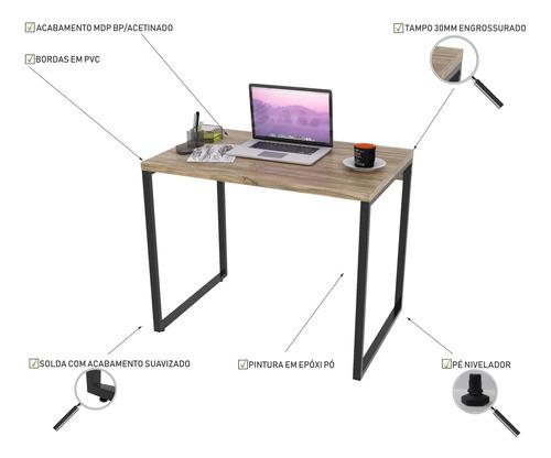 escrivaninha de escritório office estilo industrial 0,90m