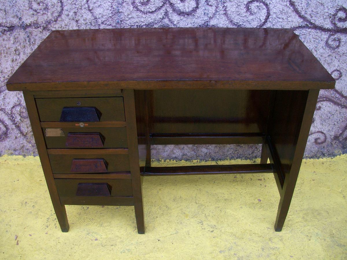 Escrivaninha /mesa Escritório /imbuia Antiga xerife madeira R$ 690  #8F8A3C 1200x900