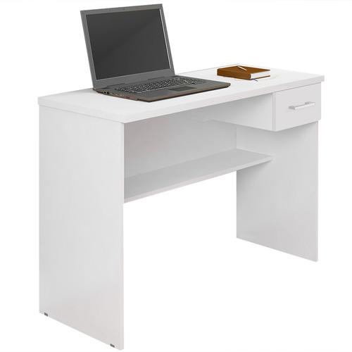 escrivaninha mesa para computador anaí 1 gaveta branca jcm