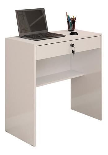 escrivaninha mesa para computador andorinha 1 gaveta branca