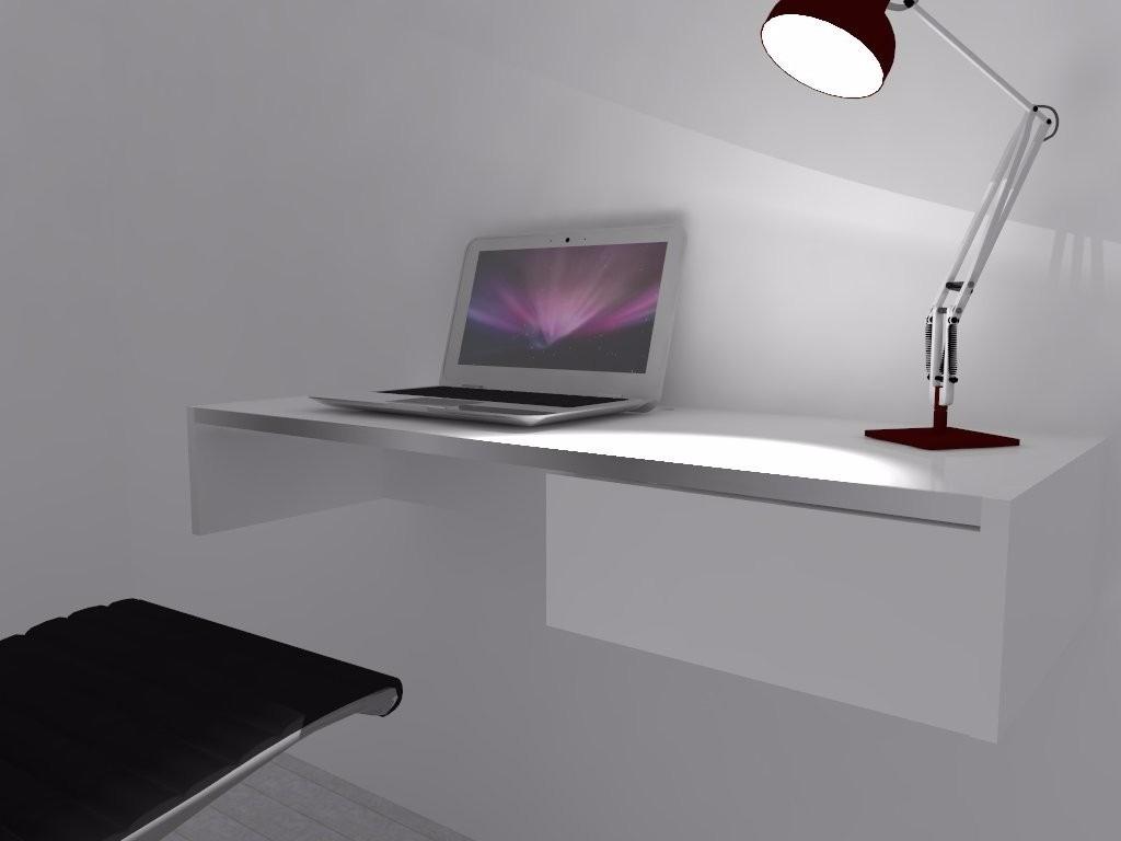 Mesa P/escritorio Suspensa 1 Gaveta Mdf Branco R$ 199 00 em Mercado #644D62 1024x768