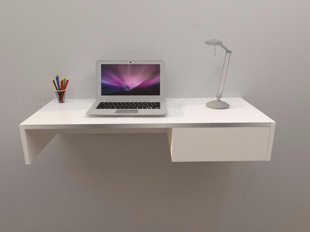 Escrivaninha mesa p escritorio suspensa 1 gaveta mdf Escritorio pc
