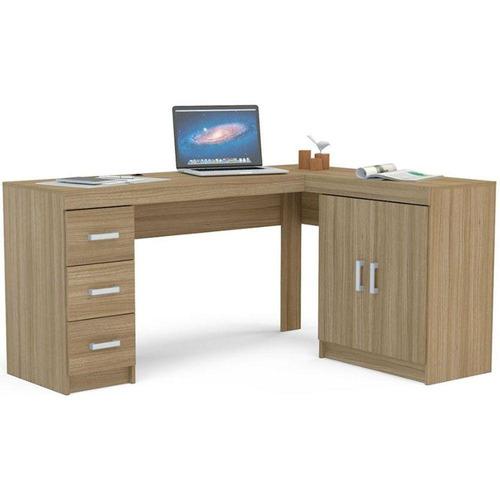escrivaninha politorno kit espanha 2 portas 3 gavetas