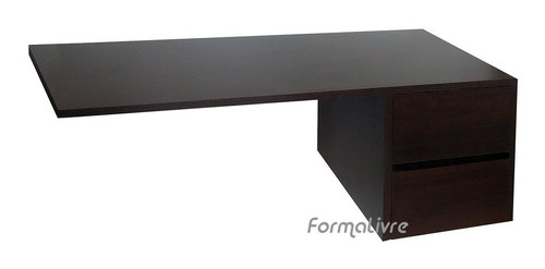escrivaninha suspensa mesa computador e notebook  tabaco