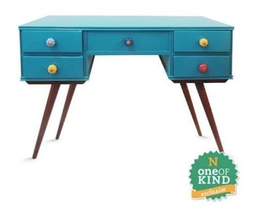escrivaninha  vintage, escrivaninha azul , aparador vintage