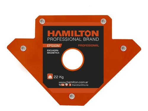 escuadra magnetica combo x4 hamilton 22,6kg p/soldar eps50m
