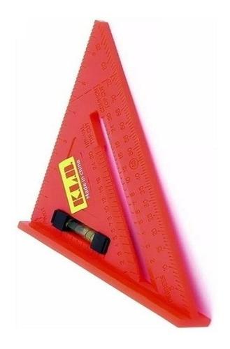 escuadra regla plástica con sombrero en triangulo kldt1