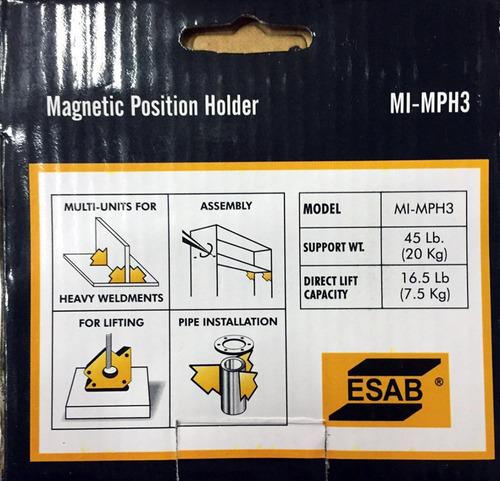 escuadra soporte magnética esab para soldador