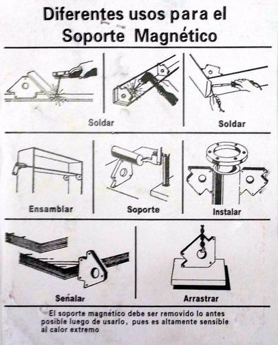 escuadra soporte magnetico 11 kg dogo x 2 unidades