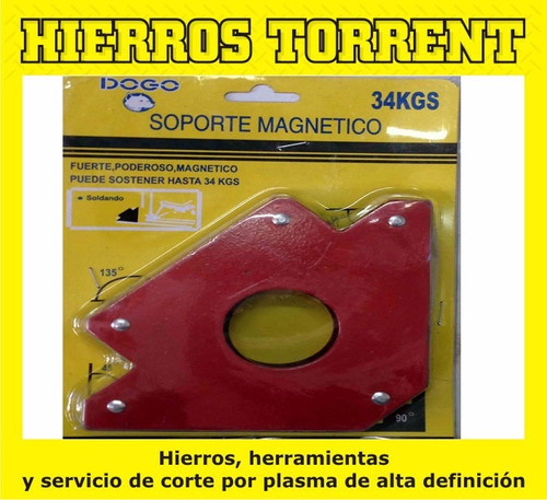 escuadra soporte magnetico dogo 2 de 11 kg + 2 de 34 kg