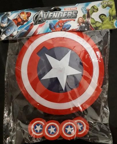 escudo de capitán américa lanza tazos