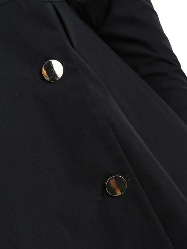escudo de falda con capucha en contraste de talla grande