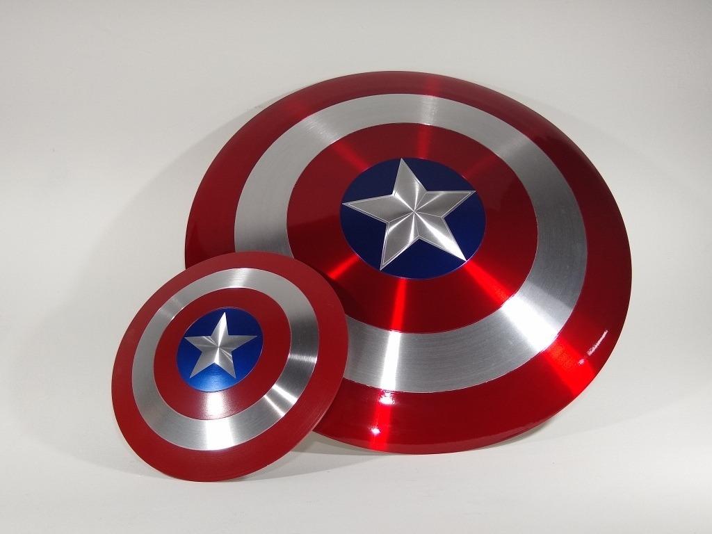 Escudo Do Capitao America De Metal 60 Cm Brinde R 329 00 Em