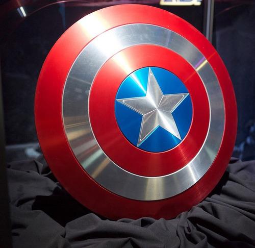 escudo do capitão américa feito em alumínio tamanho real