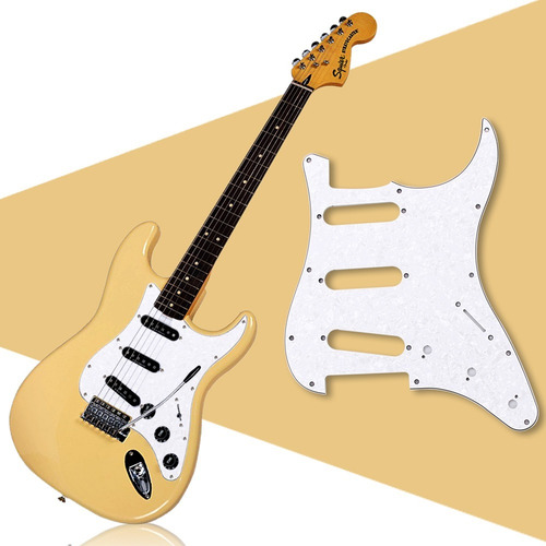 escudo guitarra estrato perolado tagima ibanez