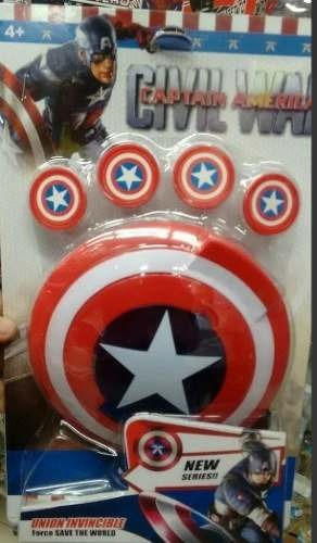 escudo lanza tazos capitan america