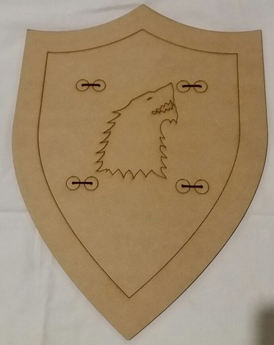 escudo medieval, blancanieves, game of thrones pack 10un.