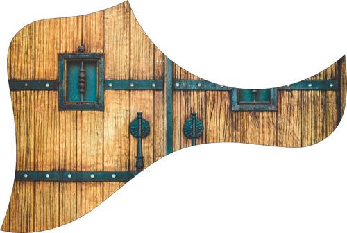 escudo palheteira resinada violão aço estilo taylor castle