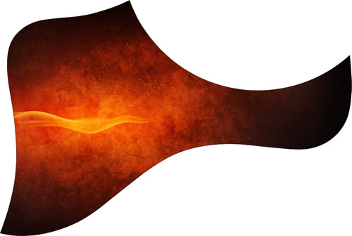 escudo palheteira resinada violão aço estilo taylor flame