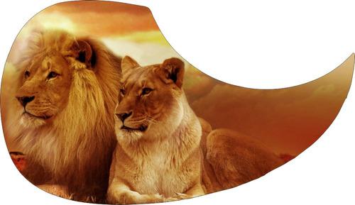 escudo palheteira resinada violão  aço lion couple