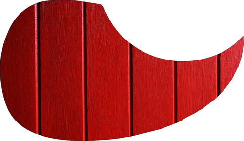 escudo palheteira resinada violão red fence