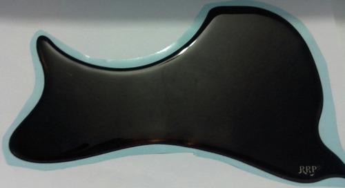 escudo para violão folk black canhoto