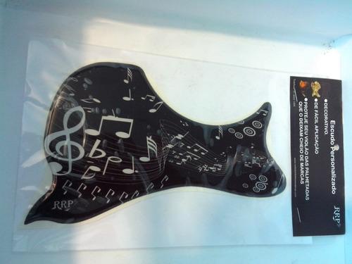 escudo para violão no feed back folk notas musicais
