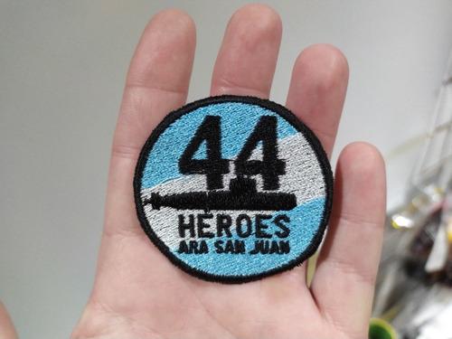 escudo parche bordado ara san juan 44 héroes p/coser premium