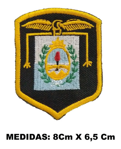 escudo parche regimiento de montaña bordado amarillo brazo