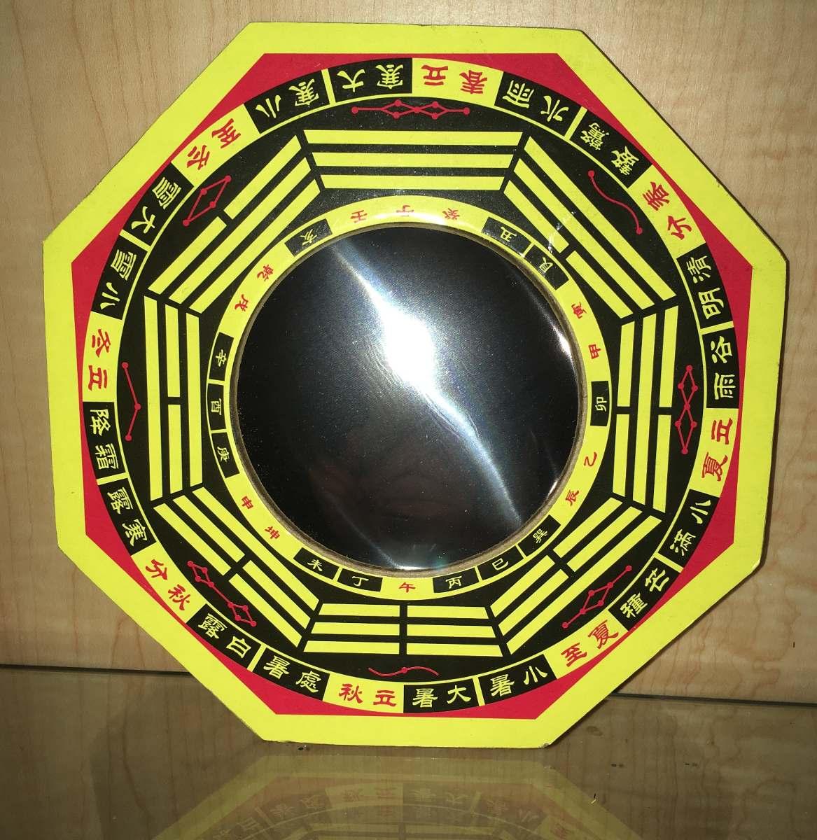 escudo protector del hogar espejo pakua feng shui cm med