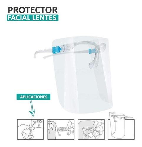 escudo protector facial medico con lentes gafas antiniebla