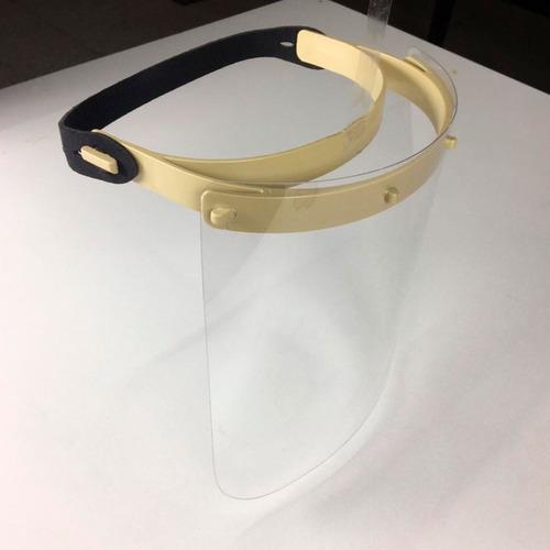 escudo protetor facial lavável com tira ajustável neoprene