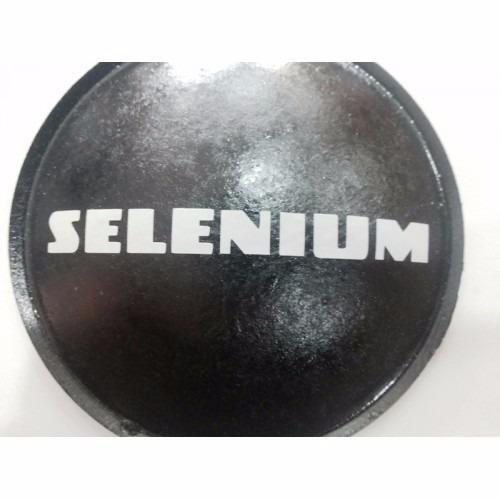 escudo protetor para alto falante selenium branco 120mm