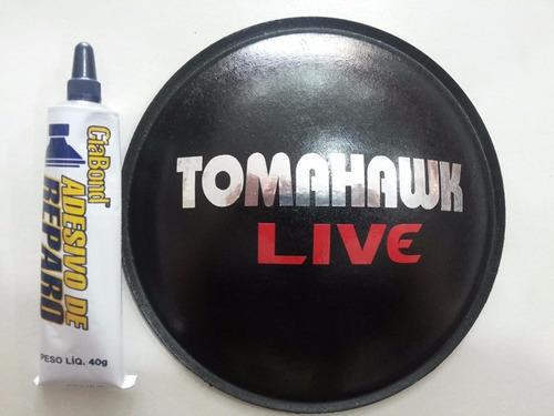 escudo protetor para alto falante tomahawk live 160mm + cola