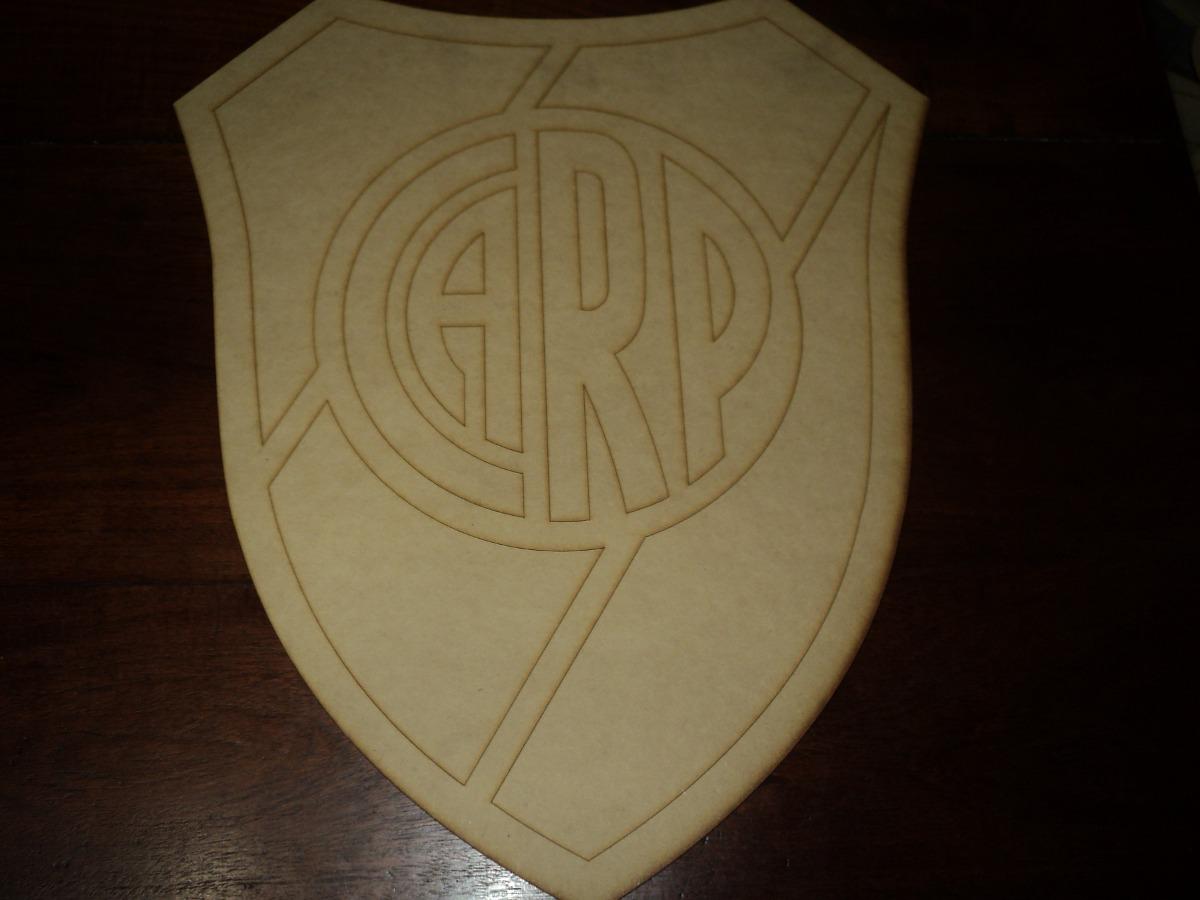 Escudo River Plate En Fibrofacil Corte Laser 42x35cm   12900 en