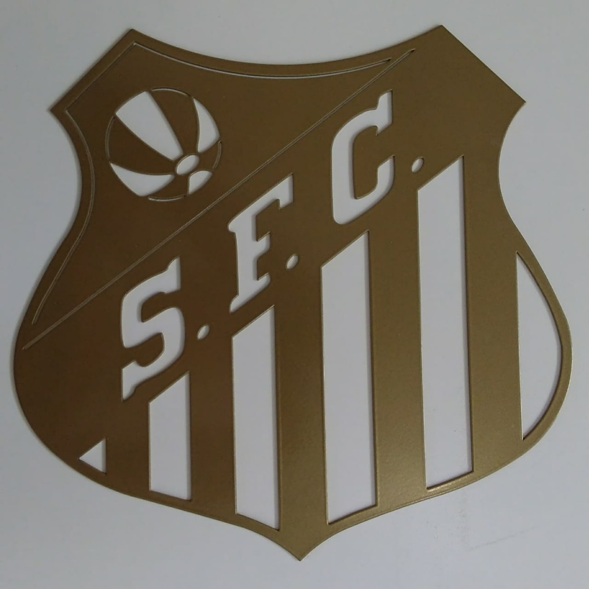 Escudo Santos - Dourado 30 Cm Corte Laser - R  129 041e39b587f35