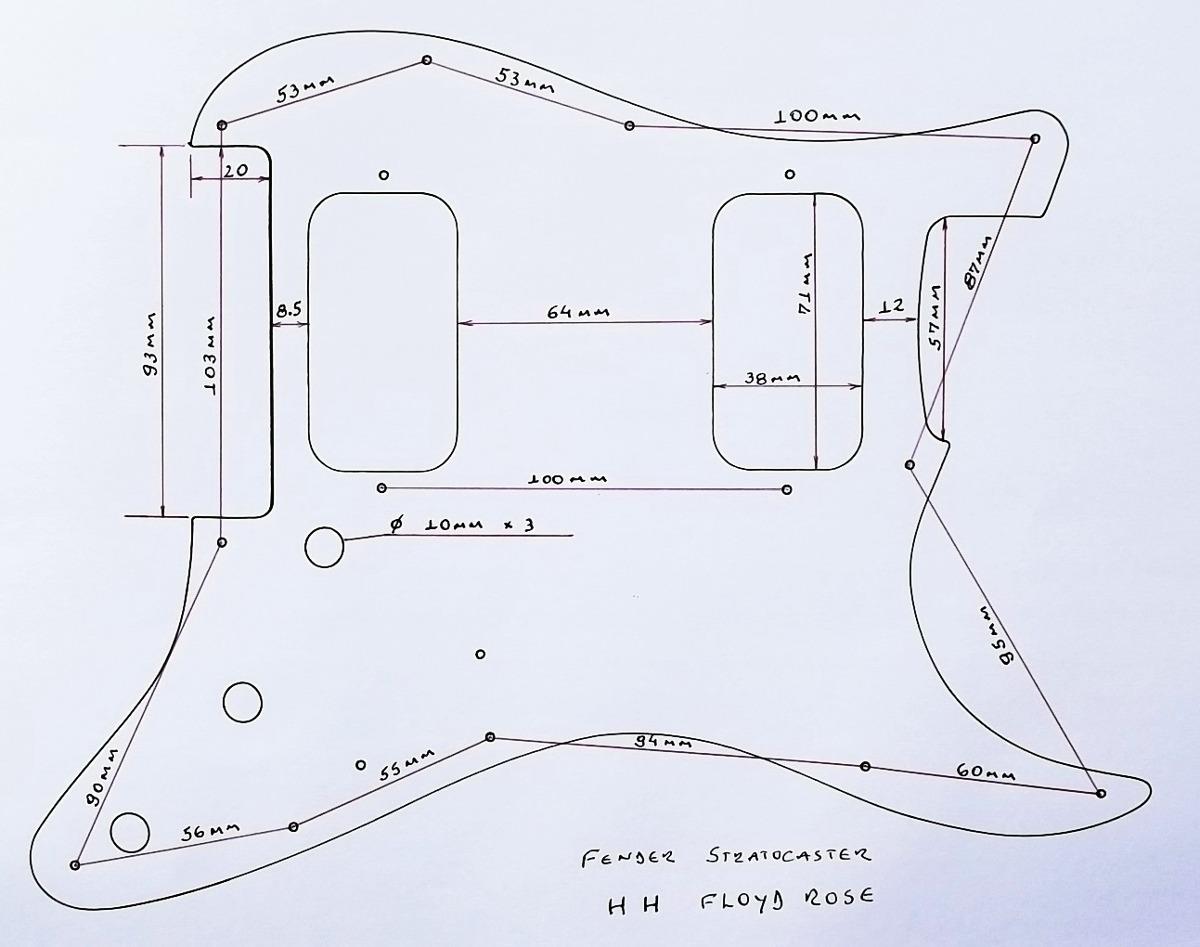 Escudo Strato Am Std H Floyd Rose Preto 1 Camada R 6000 Em Diagram Carregando Zoom