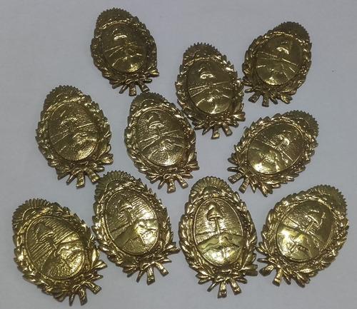 escudos argentinos de bronce, lote por 10 un. ¡oportunidad!