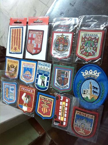 escudos bordados termo adhesivos colección precio x c/u