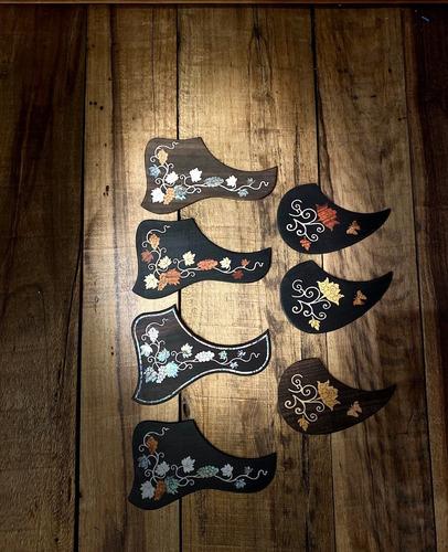 escudos violão baby/folk madre pérola pickguard 91 guitar's