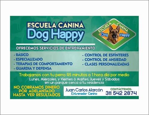 escuela canina dog happy. no cobramos hasta ver resultados