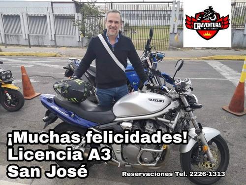 escuela de manejo de motocicletas - alquiler a2 - a3