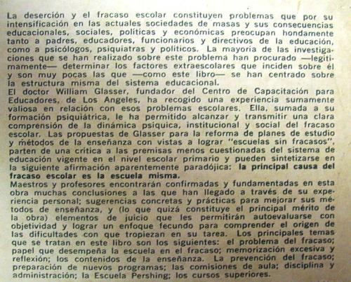 escuelas sin fracasos william glasser editó paidós argentina