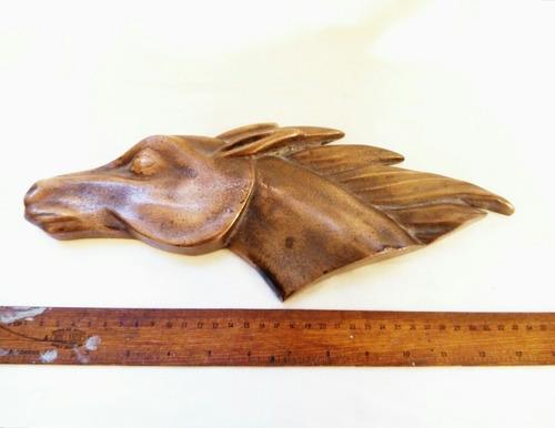 esculto relieve caballo en bronce, envío gratis.