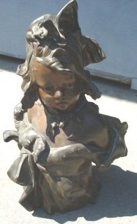 escultura antigua bronce, con defecto, firmada jairo