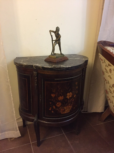 escultura antigua de bronce masizo grueso indio caupolican