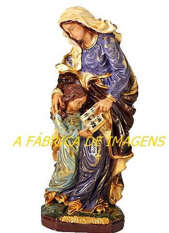 escultura barroca santa ana linda imagem 30cm promoção natal
